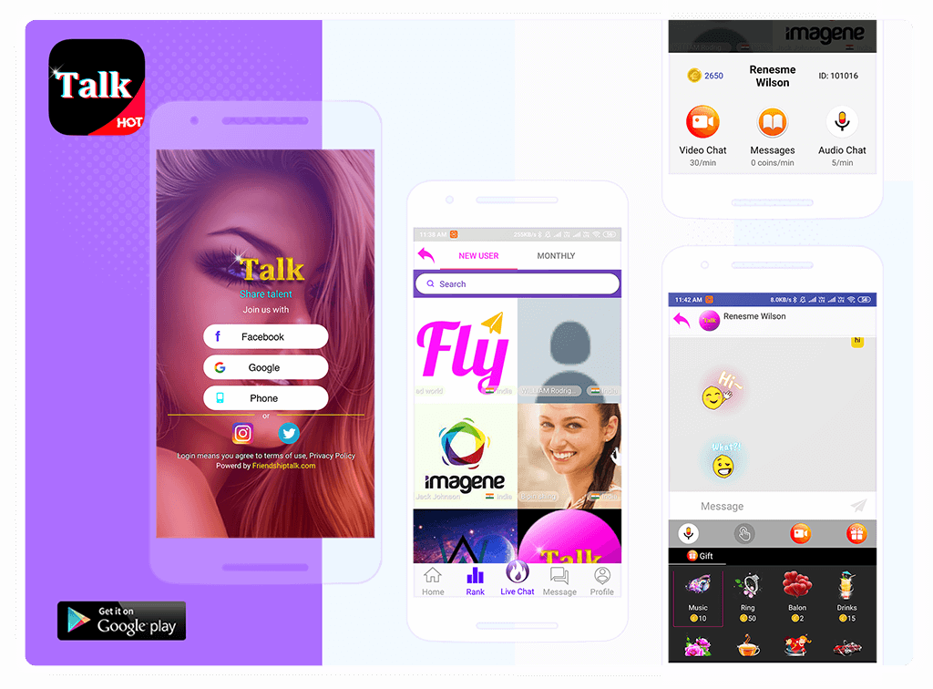 Talk - Friendship Talk Dating Apps